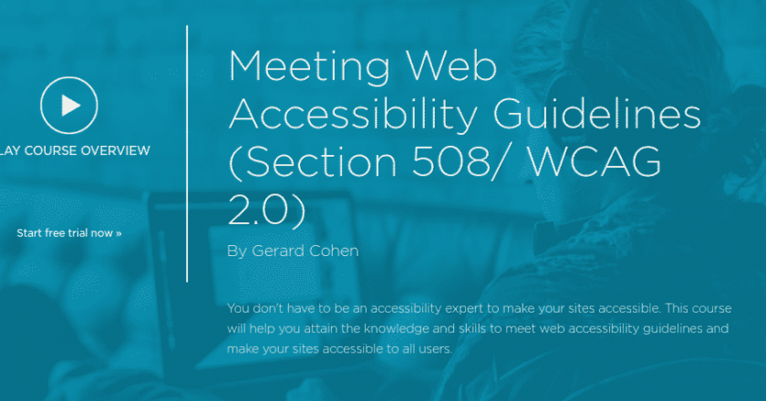 Meeting Web Accessibility Guidelines (Section 508/ WCAG 2.0) on Pluralsight
